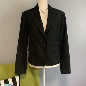 H&M Black Pinstripe Tailored Blazer Jacket